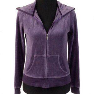 Victoria Secret Zip Up Hoodie Purple Size Small